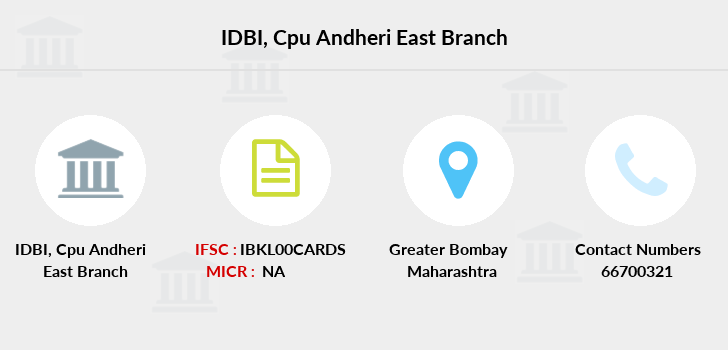 Idbi-bank Cpu-andheri-east branch
