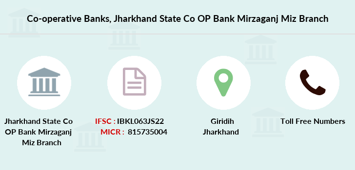 Co-operative-banks Jharkhand-state-co-op-bank-mirzaganj-miz branch