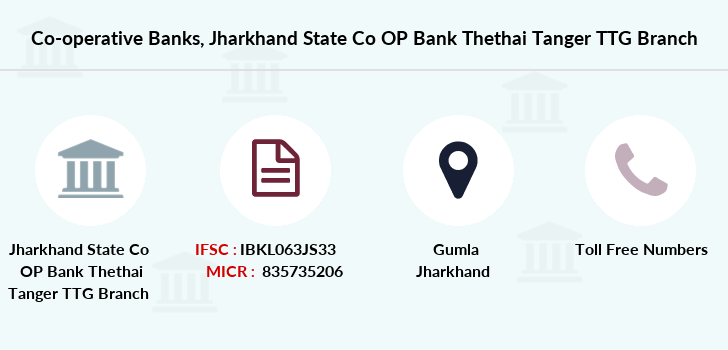 Co-operative-banks Jharkhand-state-co-op-bank-thethai-tanger-ttg branch