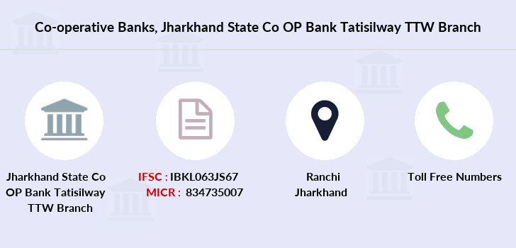 Co-operative-banks Jharkhand-state-co-op-bank-tatisilway-ttw branch