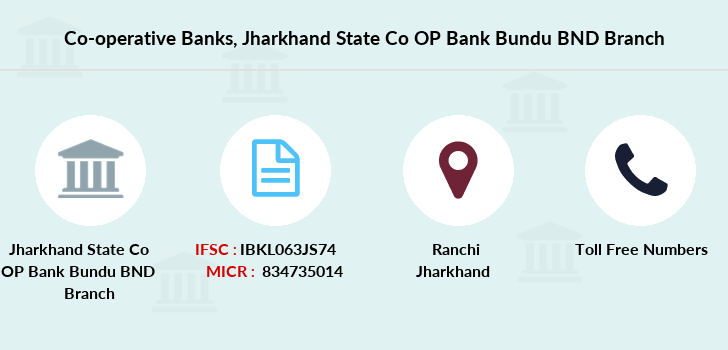 Co-operative-banks Jharkhand-state-co-op-bank-bundu-bnd branch