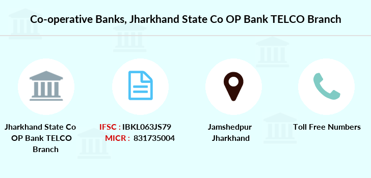 Co-operative-banks Jharkhand-state-co-op-bank-telco branch