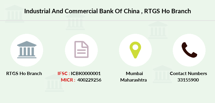 Industrial-and-commercial-bank-of-china Rtgs-ho branch