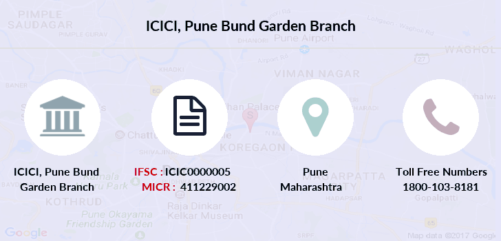icici bank bund garden branch pune contact number