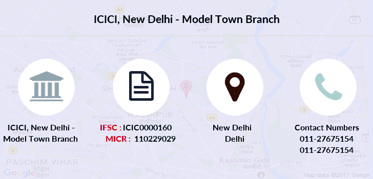 Icici-bank New-delhi-model-town branch