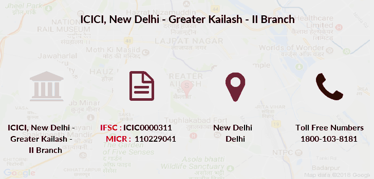 Icici-bank New-delhi-greater-kailash-ii branch