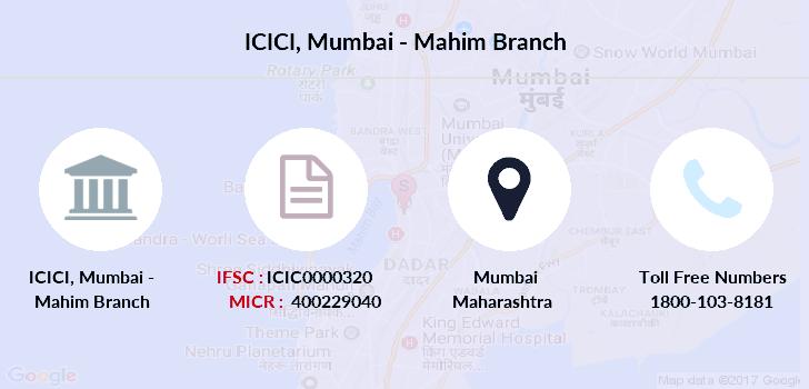 ifsc code icici bank mumbai malad west