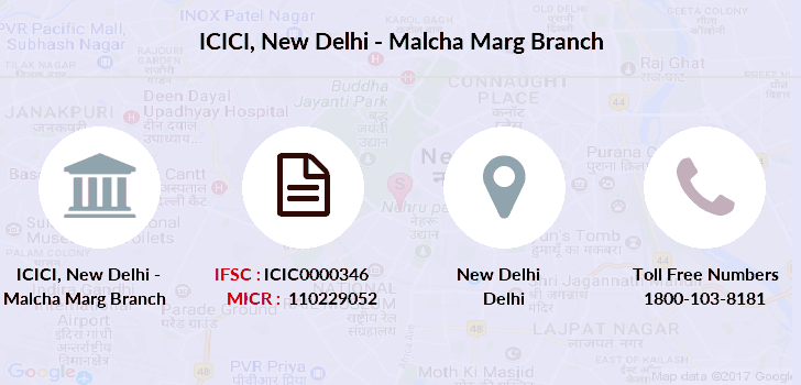 Icici-bank New-delhi-malcha-marg branch