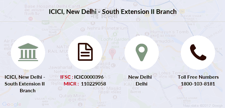 Icici-bank New-delhi-south-extension-ii branch