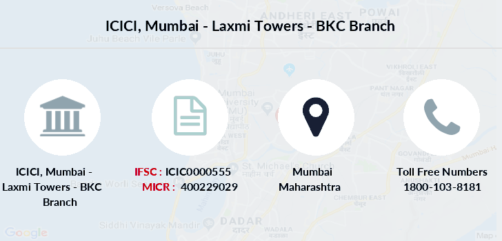Icici-bank Mumbai-laxmi-towers-bkc branch