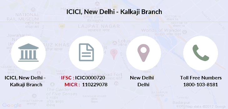 Icici-bank New-delhi-kalkaji branch