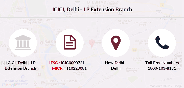 Icici-bank Delhi-i-p-extension branch