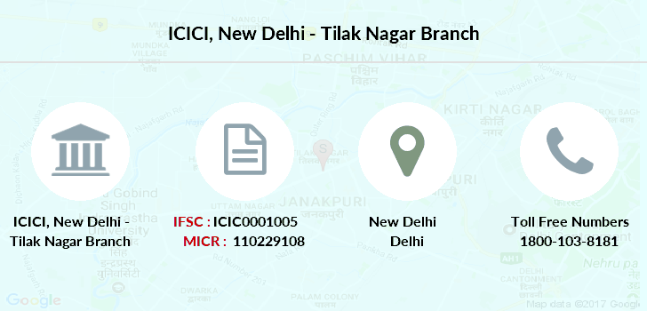 icici bank shakti nagar branch delhi contact number