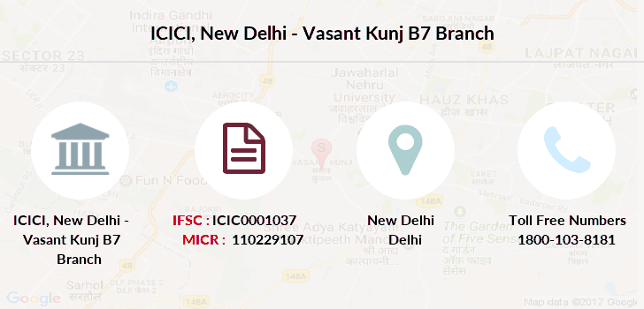 Icici-bank New-delhi-vasant-kunj-b7 branch