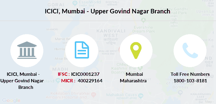 icici bank mumbai branch micr number