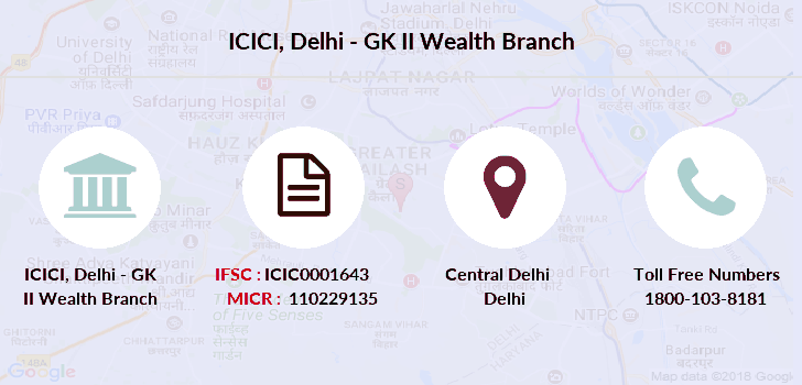 icici bank delhi helpline no