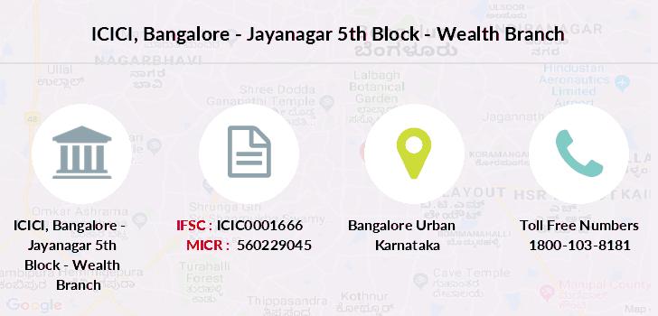 ifsc code of icici bank shantiniketan branch bangalore