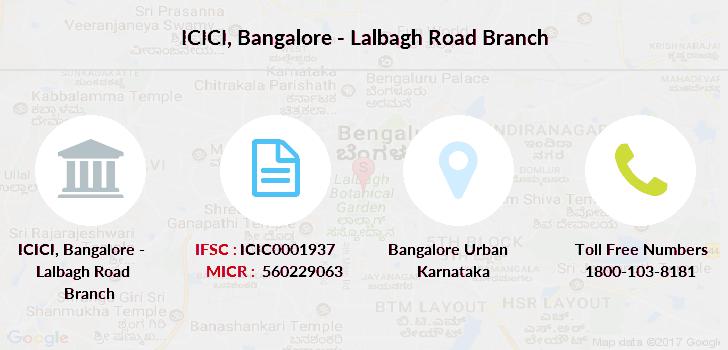 ifsc code icici bank bangalore koramangala branch