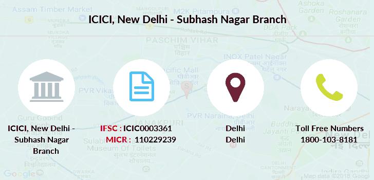 icici bank new delhi customer care number