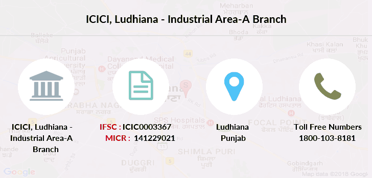 Icici-bank Ludhiana-industrial-area-a branch