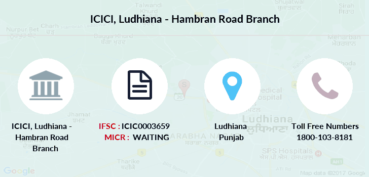 Icici-bank Ludhiana-hambran-road branch