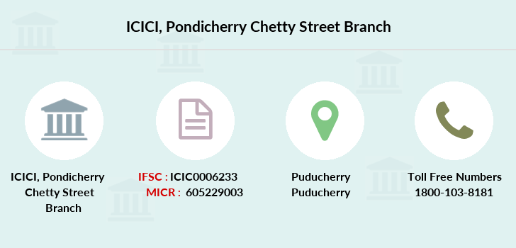 Icici-bank Pondicherry-chetty-street branch