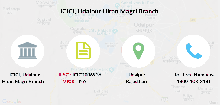 icici bank customer care number udaipur