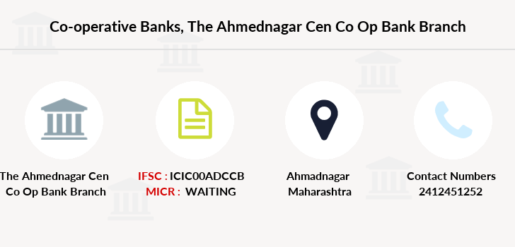 Co-operative-banks The-ahmednagar-cen-co-op-bank-limited branch