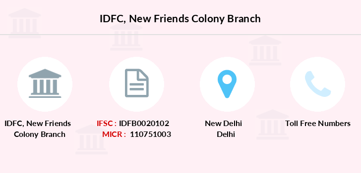 Idfc-bank-ltd New-friends-colony branch
