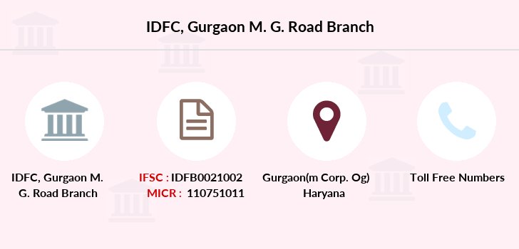 Idfc-bank-ltd Gurgaon-m-g-road branch