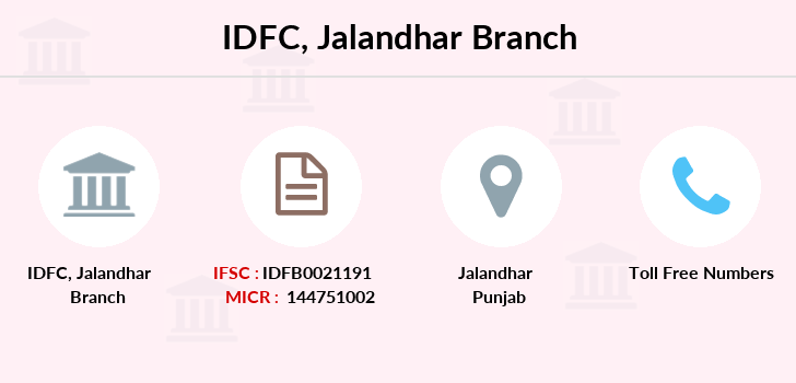 Idfc-bank-ltd Jalandhar branch