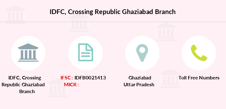 Idfc-bank-ltd Crossing-republic-ghaziabad branch