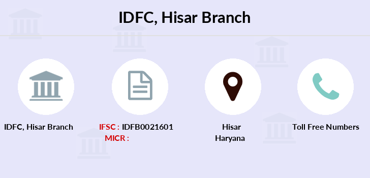 Idfc-bank-ltd Hisar branch