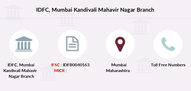 Idfc-bank-ltd Mumbai-kandivali-mahavir-nagar branch