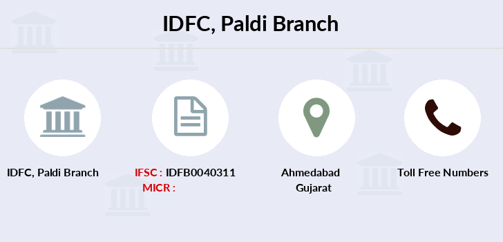 Idfc-bank-ltd Paldi branch