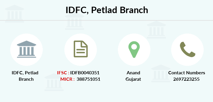 Idfc-bank-ltd Petlad branch
