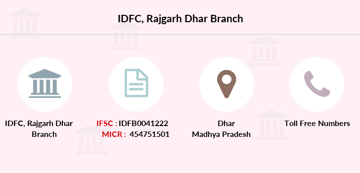 Idfc-bank-ltd Rajgarh-dhar branch