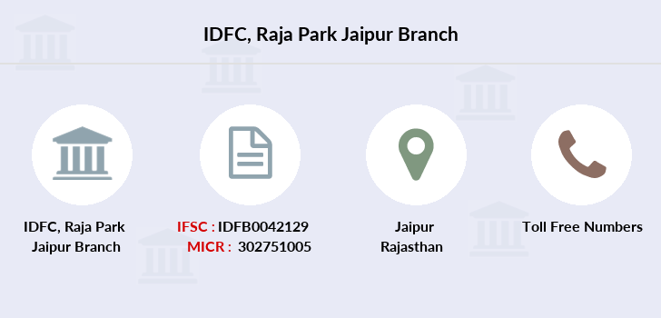Idfc-bank-ltd Raja-park-jaipur branch