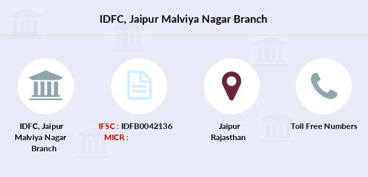 Idfc-bank-ltd Jaipur-malviya-nagar branch