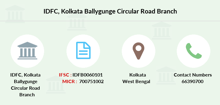 Idfc-bank-ltd Kolkata-ballygunge-circular-road branch
