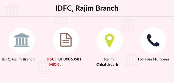 Idfc-bank-ltd Rajim branch