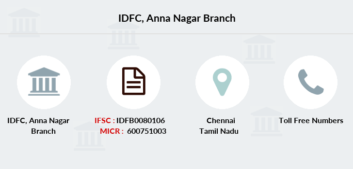 Idfc-bank-ltd Anna-nagar branch