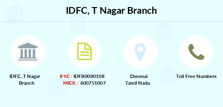 Idfc-bank-ltd T-nagar branch