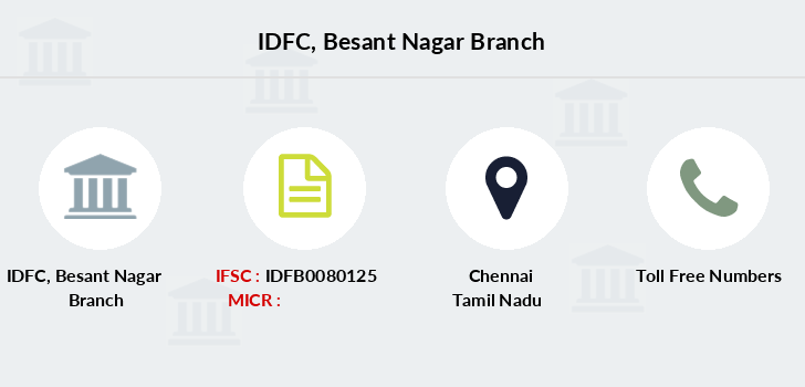 Idfc-bank-ltd Besant-nagar branch