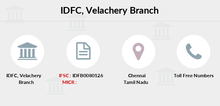 Idfc-bank-ltd Velachery branch