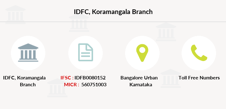 Idfc-bank-ltd Koramangala branch