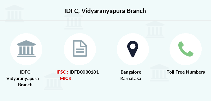 Idfc-bank-ltd Vidyaranyapura branch