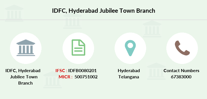 Idfc-bank-ltd Hyderabad-jubilee-town branch