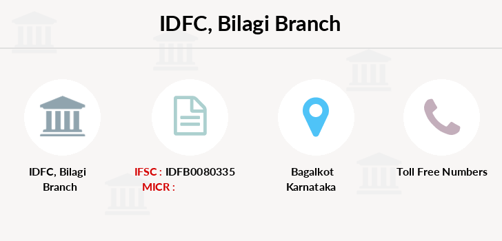 Idfc-bank-ltd Bilagi branch