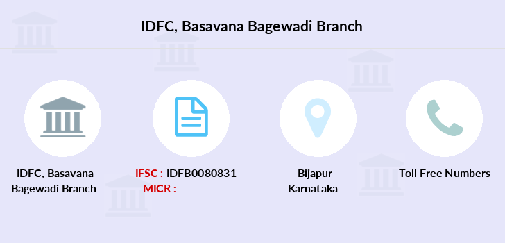 Idfc-bank-ltd Basavana-bagewadi branch